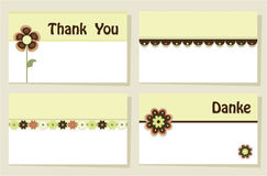 Thank you greeting cards Stock Photography