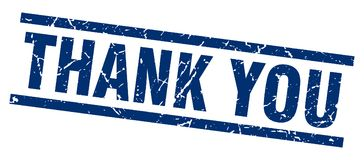 Thank you stamp. Thank you grunge stamp on white background Royalty Free Stock Photos