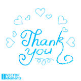 Thank you, hand draw. Vector illustration Royalty Free Stock Photography