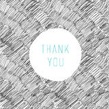 Thank You Hand Drawn Card Stock Photography