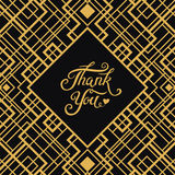 Thank You hand drawn lettering with Art Deco frame Stock Photos