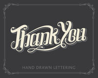 Thank You hand drawn lettering Stock Image
