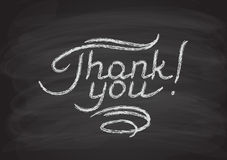 Thank you hand-drawn lettering Royalty Free Stock Image