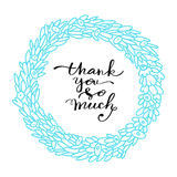 Thank you hand drawn lettering Stock Photography