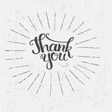 Thank you hand drawn lettering Royalty Free Stock Photography