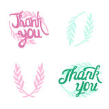 Thank you hand lettered signs with olive Royalty Free Stock Images
