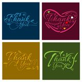 Thank you hand lettering, business card template. vector illustration. EPS file available. see more images related royalty free illustration