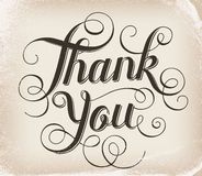 Thank you. Hand lettering. Calligraphy Royalty Free Stock Images