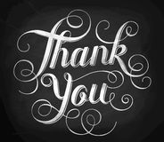 Thank you. Hand lettering. Calligraphy vector illustration