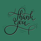 Thank You Hand Lettering Card. Modern Calligraphy. Vector Illustration royalty free illustration