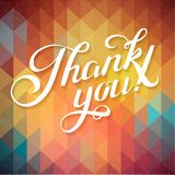 THANK YOU hand lettering - custom handmade calligraphy, vector Stock Photos