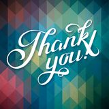 THANK YOU hand lettering - custom handmade calligraphy, vector Royalty Free Stock Images