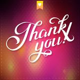 THANK YOU hand lettering - custom handmade calligraphy, vector Royalty Free Stock Photography