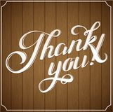 THANK YOU hand lettering custom handmade calligraphy, vector Royalty Free Stock Photos