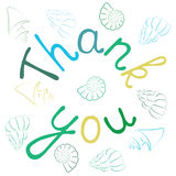 Thank You Hand lettering Greeting Card. Stock Image