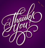 THANK YOU hand lettering (vector) Stock Image