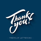 Thank You Hand lettering. Handmade calligraphy stock illustration