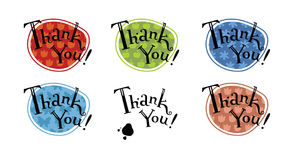 Thank you hand lettering Royalty Free Stock Photos