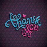 Thank You hand lettering Stock Photo