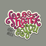 Thank You hand lettering Stock Images
