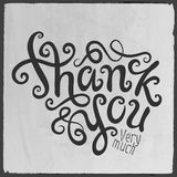 Thank You hand lettering Royalty Free Stock Photo