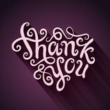 Thank You hand lettering Royalty Free Stock Photography