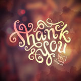 Thank You hand lettering Royalty Free Stock Image