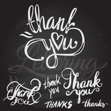 'thank you' hand lettering - handmade calligraphy Royalty Free Stock Photos