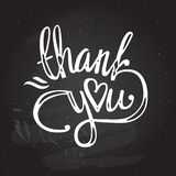 'thank you' hand lettering - handmade calligraphy vector illustration