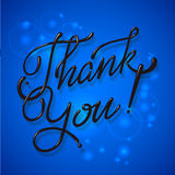 Thank You Hand lettering handmade vector Stock Image