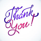 Thank You Hand lettering handmade vector Stock Photo