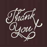 Thank You Hand lettering handmade vector Stock Images