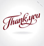 Thank you hand lettering (vector) Stock Photos