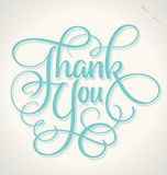 THANK YOU hand lettering (vector) Stock Photo