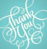 THANK YOU hand lettering (vector) Royalty Free Stock Photos