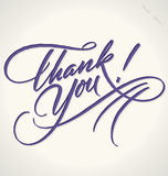 THANK YOU hand lettering (vector) royalty free illustration