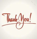 THANK YOU hand lettering (vector) vector illustration