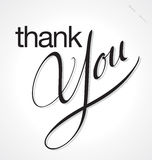 THANK YOU hand lettering (vector) Royalty Free Stock Images