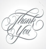THANK YOU hand lettering (vector) Stock Images