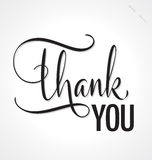 THANK YOU hand lettering (vector) Royalty Free Stock Image