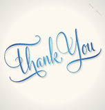 THANK YOU hand lettering (vector) Royalty Free Stock Photography
