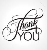 THANK YOU hand lettering (vector) Stock Photography