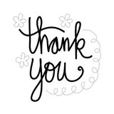 Thank you hand lettering. Vector illustration Royalty Free Stock Photos