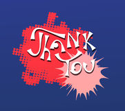 Thank You hand lettering vector Stock Image