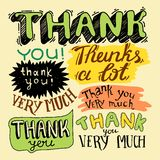 Thank you- hand lettering Royalty Free Stock Photos