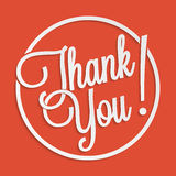 Thank you. Hand lettering for your design Royalty Free Stock Image