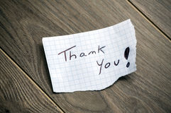 Thank you! Stock Photography