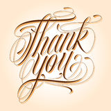 Thank you. Handmade calligraphy lettering THANK YOU (eps 8 Royalty Free Stock Photos