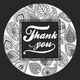 Thank You handmade lettering Royalty Free Stock Images