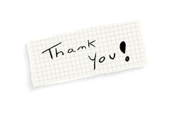 Thank you! Handwriteing text. stock illustration